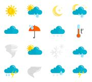 Weather Icons Flat Set Stock Image