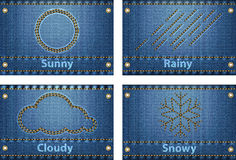 Weather icons and forecast symbols Royalty Free Stock Photos