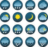 Weather icons - Illustration Royalty Free Stock Photos