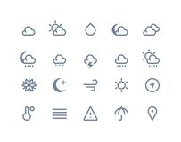Weather icons. Line series Stock Image