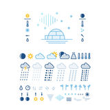 Weather icons. Mega pack of weather icons with White Background Royalty Free Stock Photography