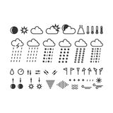 Weather icons Stock Photos