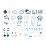 Weather icons Stock Photo