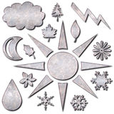 Weather Icons Metal Royalty Free Stock Photography