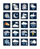 Weather Icons - Night Stock Image