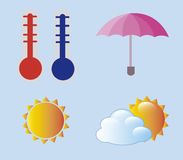 Weather icons Royalty Free Stock Images