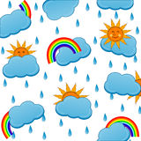 weather icons pattern Royalty Free Stock Photos