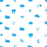 Weather icons pattern eps10. Blue weather icons pattern eps10 Stock Illustration