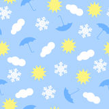 Weather icons pattern vector illustration