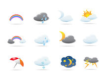 Weather icons set. Some weather icons set for design Royalty Free Stock Photography