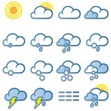 Weather icons set Royalty Free Stock Photography