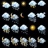 Weather icons set. Royalty Free Stock Photography