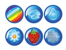 Weather icons set 2 Stock Photography