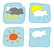 Weather icons - Set 2. Stock Images