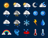Weather icons set royalty free stock image