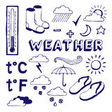 Weather icons set Stock Images