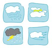 Weather icons - Set 3. Royalty Free Stock Photos
