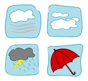 Weather icons - Set 4. Royalty Free Stock Photos