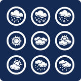 Weather Icons (set 7, Part 1) Royalty Free Stock Photo