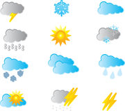 Weather icons set. Easy To Edit Vector Image Royalty Free Stock Image