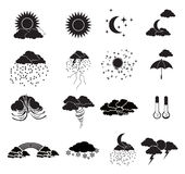 Weather Icons Set Royalty Free Stock Image