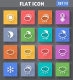 Weather Icons set in flat style with long shadows. Vector application Weather Icons set in flat style with long shadows Royalty Free Stock Photo