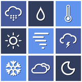 Weather icons set great for any use. Vector EPS10. Stock Photography