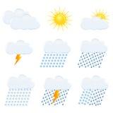 Weather  Icons Set Royalty Free Stock Photo