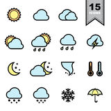 Weather icons set. Stock Images