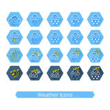 Weather Icons Set Royalty Free Stock Photos