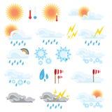 Set of weather icons stock illustration