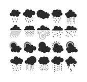 Weather icons  set. Royalty Free Stock Photos