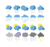Weather icons  set. Stock Photography