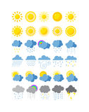 Weather icons  set. Royalty Free Stock Image