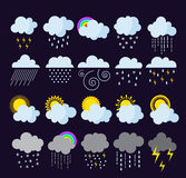 Weather icons  set. Stock Photos