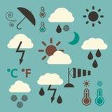 Weather Icons Set royalty free illustration