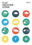 Weather icons set Stock Photos
