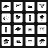 Weather icons set , simple style Stock Images