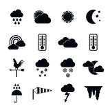 Weather icons set, simple style Stock Images