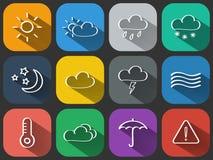 Weather icons set Stock Image