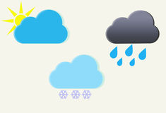 Weather icons set. Vector illustration Royalty Free Stock Image