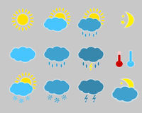 Weather icons - set. Stock Photos