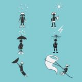 Weather Icons Set. Vector Illustration Royalty Free Stock Images
