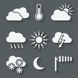 Weather icons set Royalty Free Stock Images
