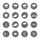 Weather icons set Stock Photography