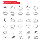 Weather Icons set Stock Photo