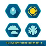 Weather icons set, vector Stock Photography