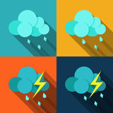 Weather icons set - vector Royalty Free Stock Photos