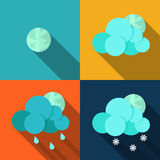 Weather icons set - vector Stock Image