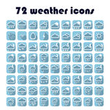 49 weather icons set. Vector weather. Stock Photos